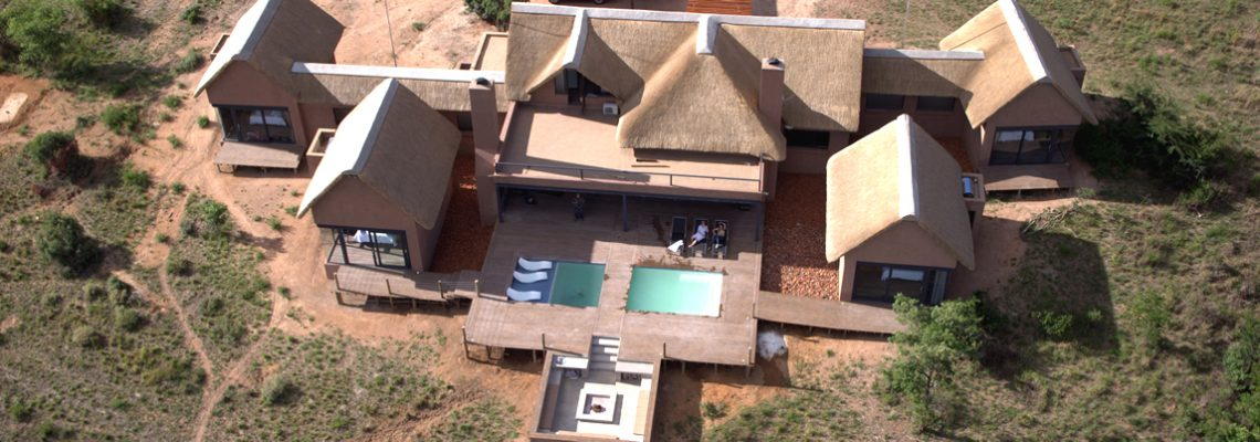 Arial view of luxury game lodge in Mabalingwe Bela-Bela