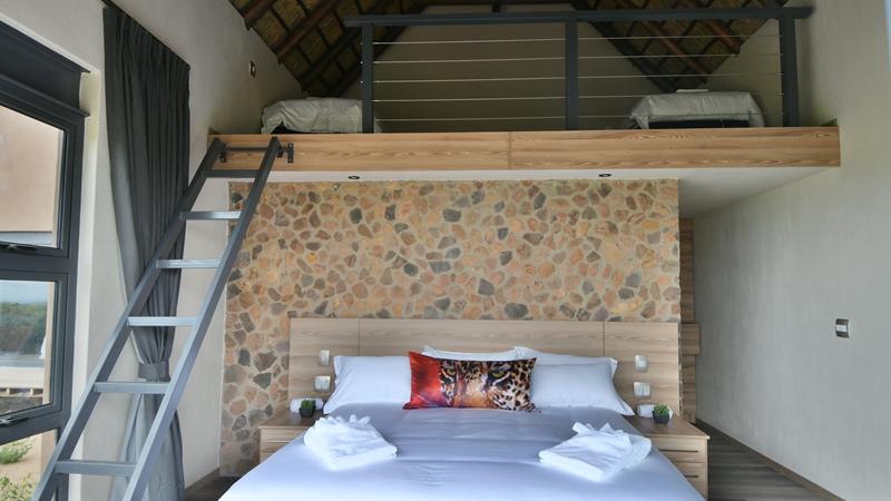 Bedroom at Gweda Lodge luxury accommodation in Mabalingwe Bela-Bela