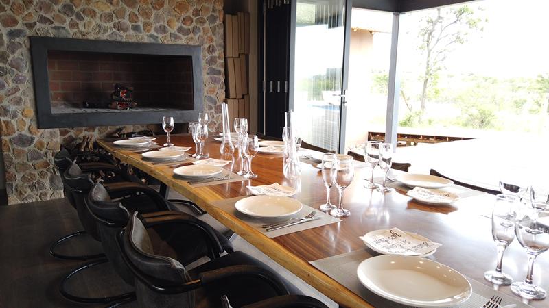 Dining Room at Gweda Lodge private game lodge in Mabalingwe Bela-Bela