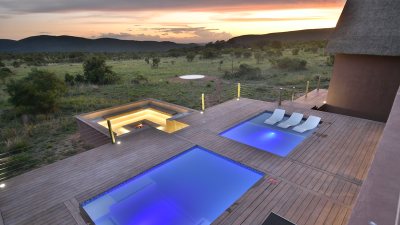 Swimming pool at Gweda Lodge private game lodge in Mabalingwe Bela-Bela