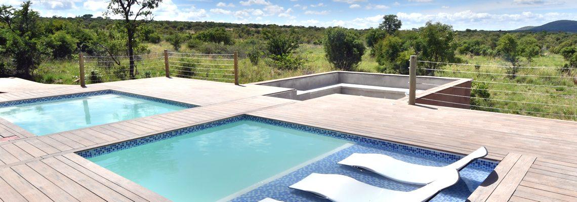 Swimming pool facilities at game lodge in Mabalingwe Bela-Bela
