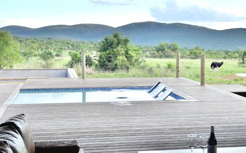 Pool at a private game lodge in Mabalingwe Bela-Bela