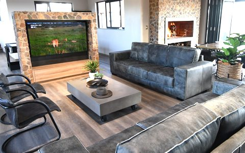 TV Room at a private game lodge in Mabalingwe Bela-Bela